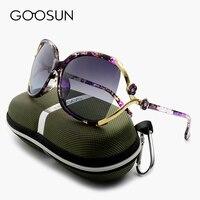 GOOSUN Fashion Polarized Sunglasses Women Brand Designer Camellia High Quality Big Sunglasses Female UV400 Oculos De