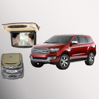 BigBigRoad For ford everest Car Roof Mounted in car LED Digital Screen Support HDMI USB FM TV Game IR Remote Flip Down DVD