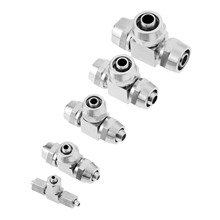 1Pc Brass Tee Shape Pneumatic Quick Coupler 4mm 6mm 8mm 10mm 12mm Three Way Fittings Connector for Hose Tube
