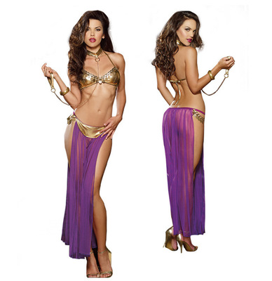 Cosplay 52 Princess Costume Us13 Slit Halloween Fancy In Slave With Dress Bra sexy God Women Adult Leia Top 35Off Bikini Costumes For PXOkiZuT