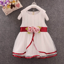 2019 New Summer Girls Dress Baby Girl Sweet Cute Striped Pearl Decor Sleeveless Round Collar Dress Toddler Girl Clothes цена 2017
