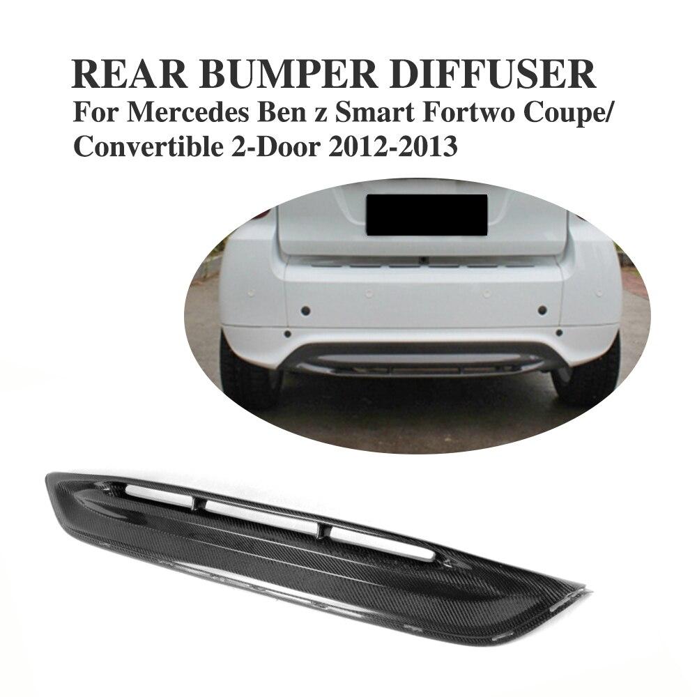 Carbon Fiber Rear Bumper Diffuser Lip Spoiler for Mercedes Benz Smart Fortwo 2-Door 2012-2013 Car Styling