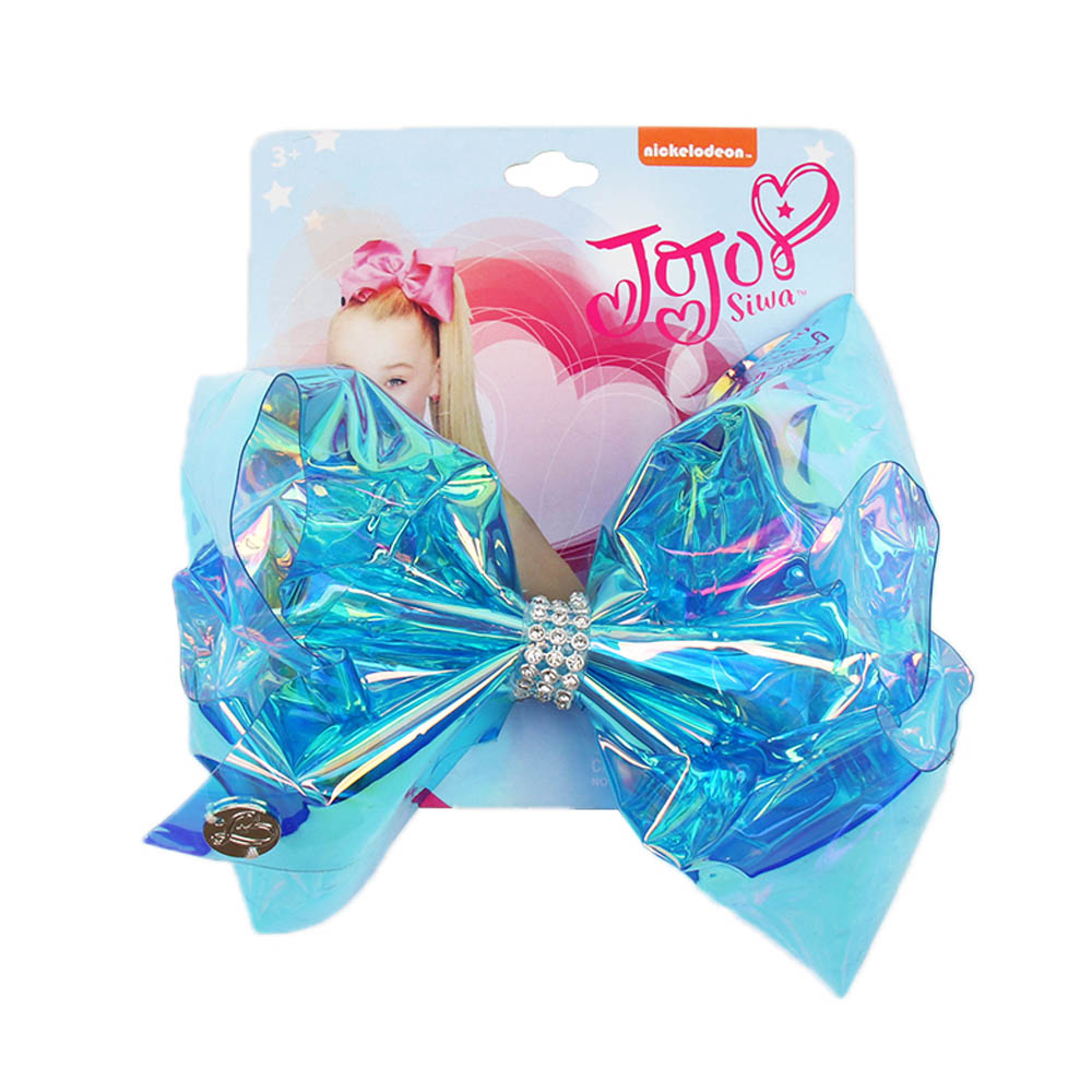 AHB Fashion 5 5 quot PVC Hair Bows for Girls Hair Clips with Rhinestone Party Hairgrips Waterproof JO JO Bows Kids Hair Accessories in Hair Accessories from Mother amp Kids