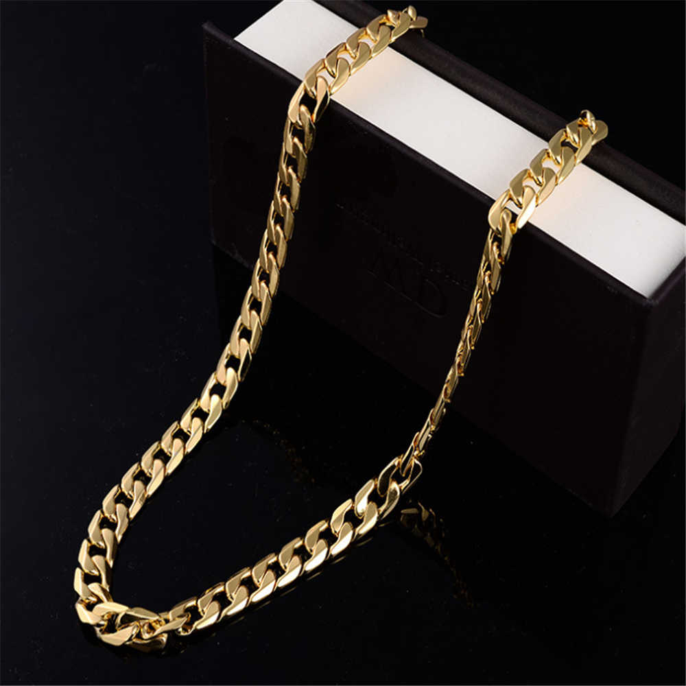 2020 Fashion Gold Snake Chain Necklace With Lobster Clasps Lobster Claw Necklaces for Men Casual Party Club Jewelry Hot Sale