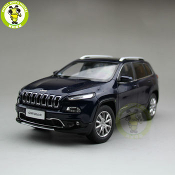 1/18 Cherokee Diecast Metal Car Suv Model Collection Gift Blue