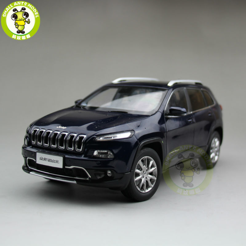 1/18 Jeep Cherokee Diecast Metal Car Suv Model Collection Gift Blue Color 1 18 vw volkswagen teramont suv diecast metal suv car model toy gift hobby collection silver