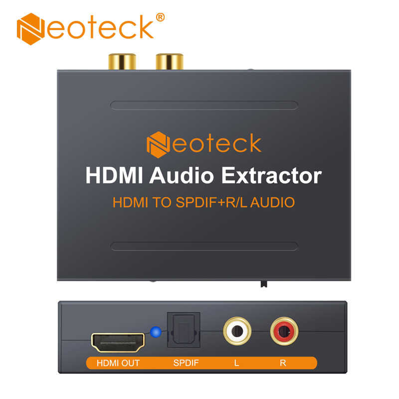 Neoteck HDMI a Ottico Toslink Spdif R/L RCA Analogico HDMI Video Adapter Splitter HDMI a HDMI Audio Extractor per HD Box PS3 PS4