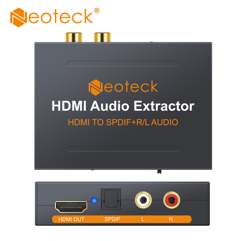 Neoteck HDMI to HDMI Audio Extractor HDMI to Optical Toslink Spdif R/L RCA Analog HDMI Video Adapter Splitter For HD Box PS3 PS4 цифровой конвертер espada vga r l audio to hdmi adapter hcv0101
