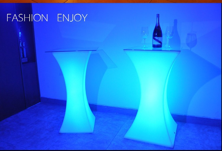 Generous Rechargeable Led Illuminated Cocktail Table Waterproof Glowing Led Bar Table Lighted Up Coffee Table Bar Ktv Disco Party Supply Bar Tables