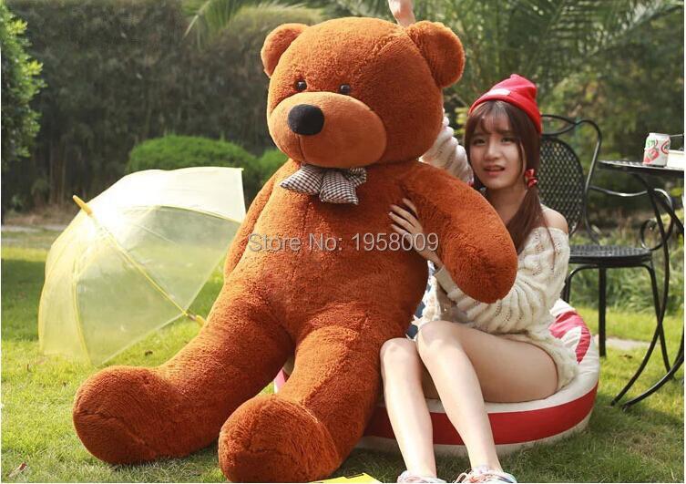 6 feet big teddy bear stuffed 5 colors giant jumbo size 180cm