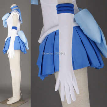 Athemis Anime Sailor Moon Ami Mizuno / Sailor Mercury Cosplay Costume custom made Dress High Quality