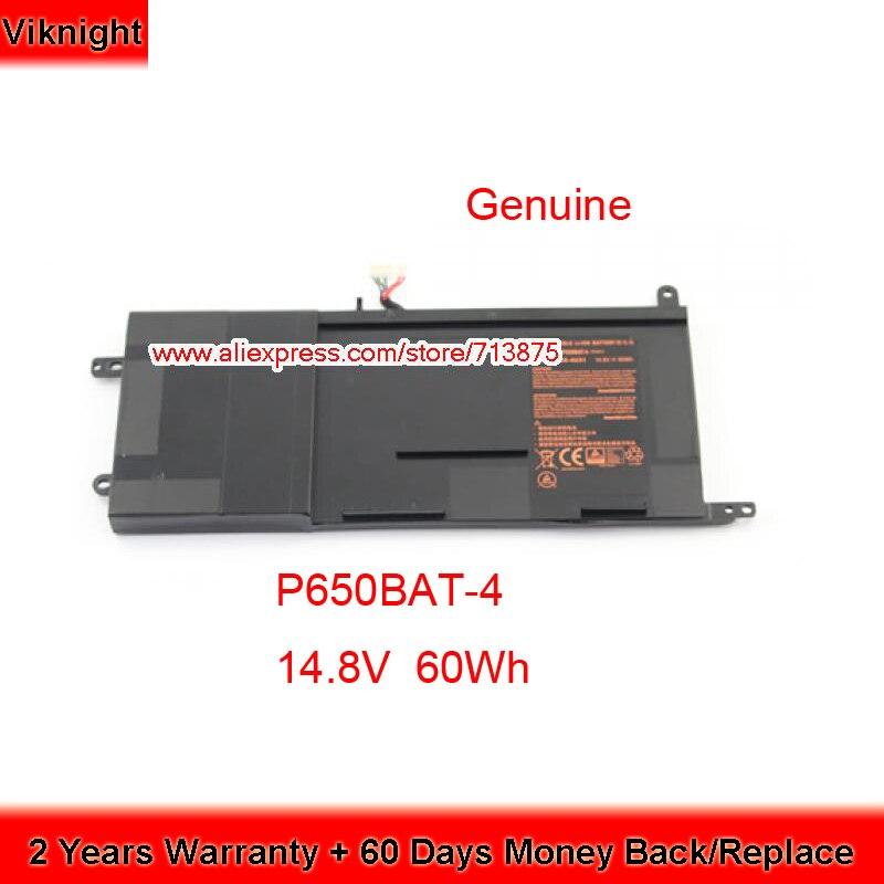 Véritable 14.8 V 60Wh P650BAT-4 batterie d'ordinateur portable Pour Clevo P650BAT-4 P650SA P650SG P651RE P651SG P671RG Hasee Z7 Schenker Xmg P505