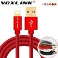 Voxlink cabo usb para iphone 7 7 plus 6 6 s 6 mais 5 5S couro pu 30 pinos carregador usb cabos de dados para iphone 4 4s ipad 2 3 ios 9