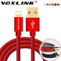 Voxlink usb cable para iphone 7 7 plus 6 6 s 6 más 5 5S cuero de la pu 30 pin usb cargador cable de datos para iphone 4 4s ipad 2 3 ios 9