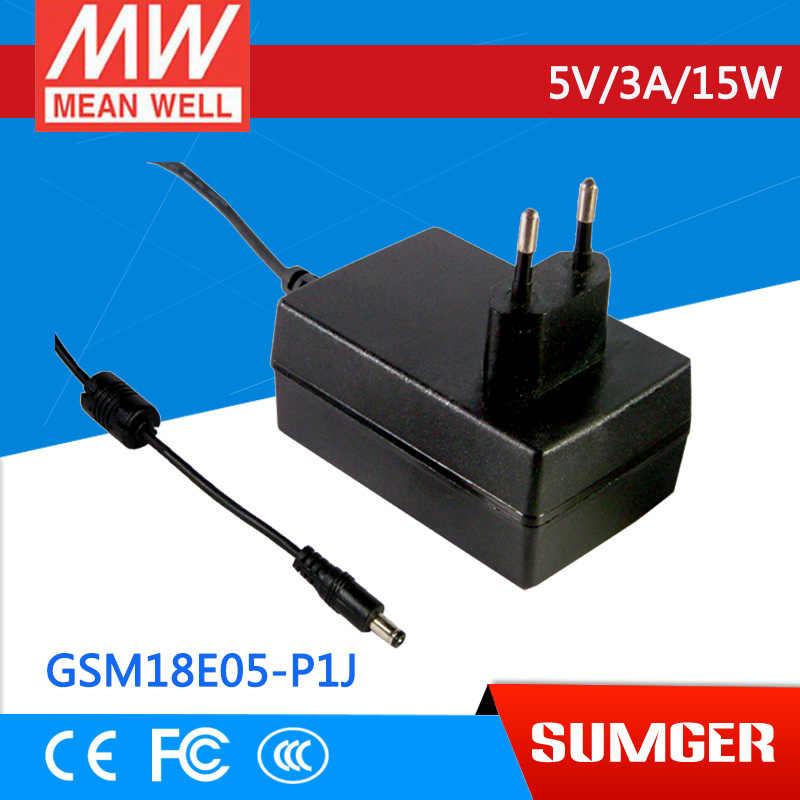 [BB] означает хорошо оригинальный gsm18e05 p1j 10 шт. 5 В 3A Meanwell gsm18e 15 Вт AC dc Высокая