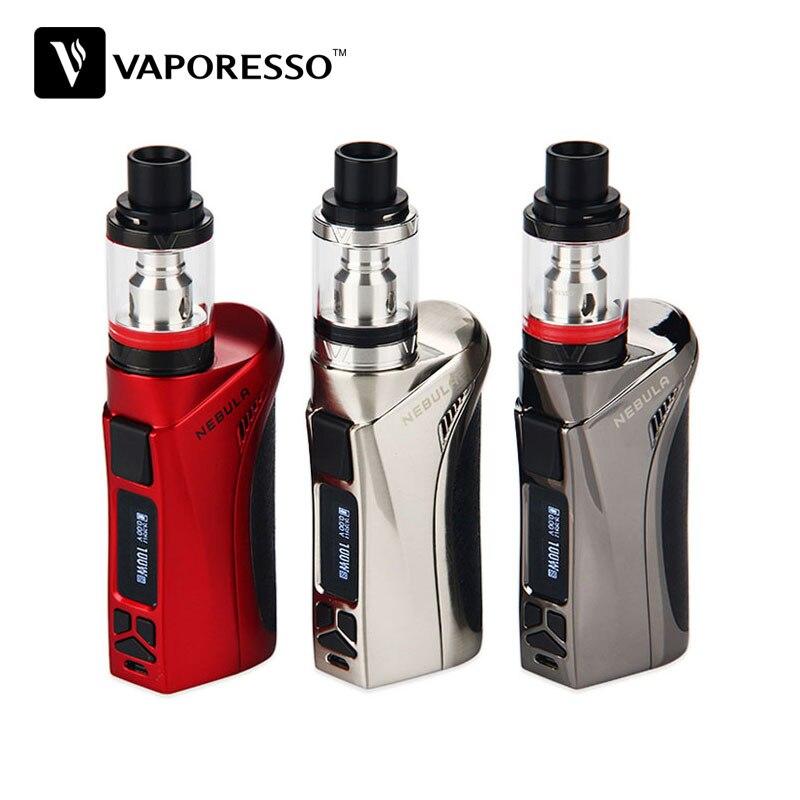 100 W D'origine Vaporesso Nébuleuse TC Kit avec 2 ml/4 ml Veco Plus Réservoir 100 W De Sortie Sans 18650 Batterie Vs Nébuleuse Boîte Mod E-cigarette Kit