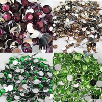 10000pcs 6mm Pretty Fashion 14 Facets Resin Rhinestone Flatback Acrylic Gems Crystal