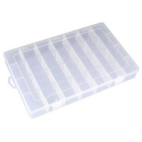 New Arrival High Quality 28 Grid Transparent Jewel Case Box Plastic Small Items Container Storage Box Plastic Box drop shipping