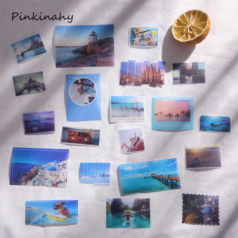 Café vida bala diario estacionario japonés Mini pequeño viaje escamas pegatinas lindo sello Vintage Scrapbooking DT018