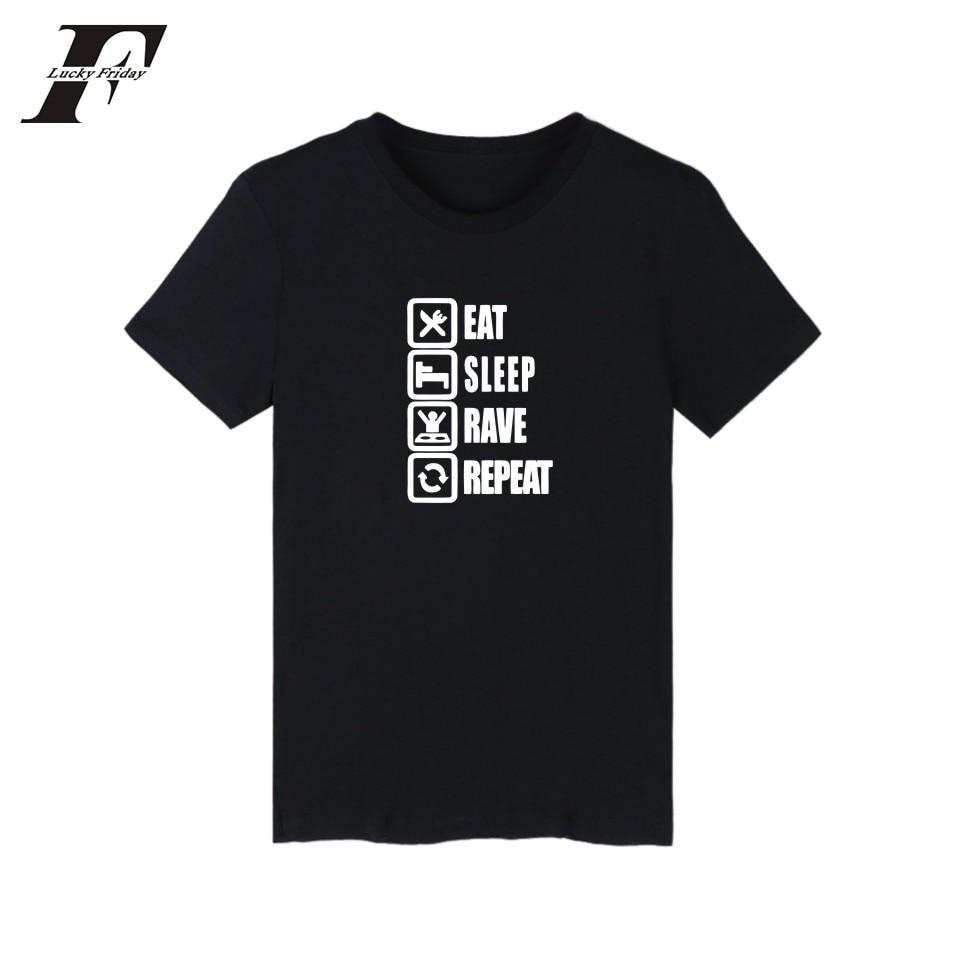 Eat Sleep Game XXS-4XL White/navy Blue Short T-shirt Summer Funny T Shirts For Men Street Wear O Neck Better Cotton