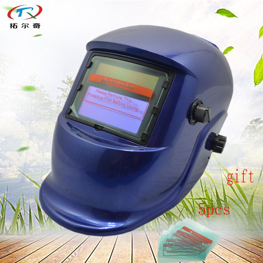 Battery Replaced light Welding Helmet good packing Auto Darkening Protective Grinding solar welding Mask long life HS04(2233FF)