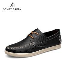 JONEY GREEN Casual Leather Men Shoes Italian Breathable Casual Shoes Men Shoes Handmade Dress Shoe 2017 New Arrival Luxury Falts