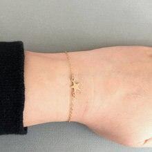 1PCS- B010 Simple Rock Star Bracelets Tiny Small Five-pointed Bracelet Cute Sideways for Women Jewellery