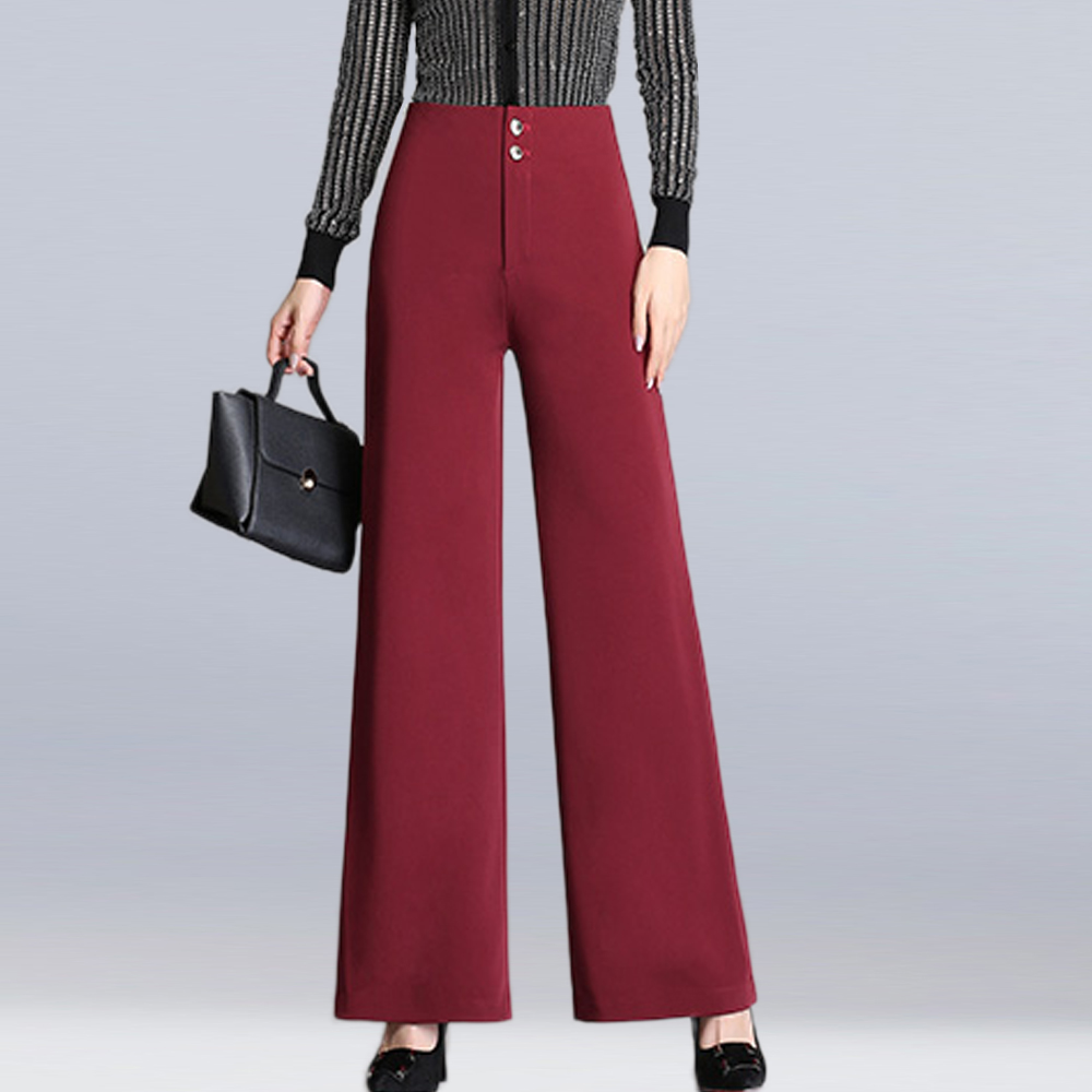 2019 autumn and winter new women's high waist straight   pants   fashion casual loose   wide     leg     pants   comfortable wild full ength