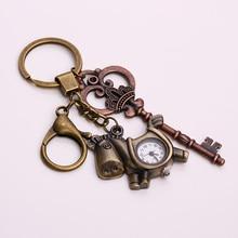 Винтаж металлический конь карманные часы брелок Мода брелки корона брелоки брелок ключа Держатель для Для женщин 2018 подарок