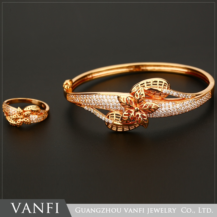 Kfvanfi New Style Dubai Gold Shiny Zirconia Flower Fashion Jewelry New Trendy Gold&silver Plated Bracelets Bangles For Women adixyn dubai gold bangles fashion jewelry for women men gold color bangles bracelets african india middle east items free box