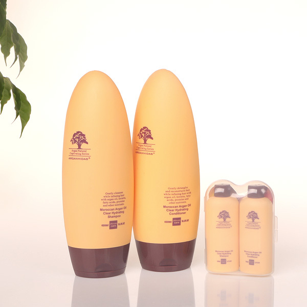 argan oil hair shampoo +hair conditioner+mini hair shampoo and conditioner deep Moisturizing