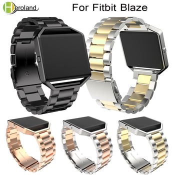 23mm Replacement Stainless Steel Wrist watch Band Strap Band For Fitbit Blaze Smart Watch Black For Women Men Watch Accessories