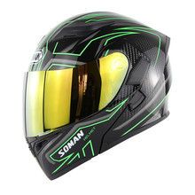 High Quality Soman 955 Double Lens Motorcycle Helmet Flip UP Modular Street Motorbike Helmets Casco Casque Color Visor