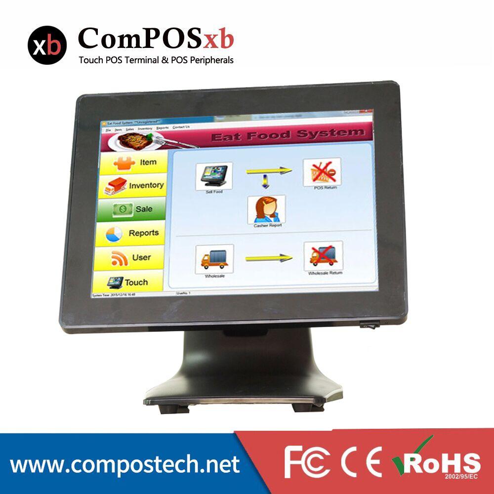 Le terminal de machine de position tactile de 15 pouces à l'étranger s'applique au point de vente au détail tout en un système ps POS1518
