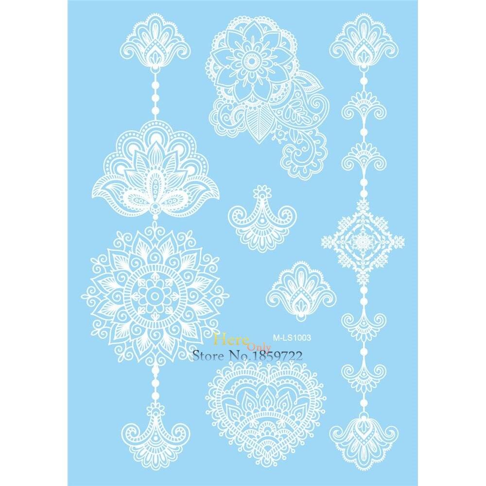 Hot Sale White Henna Tattoo Lotus Flower Pendant Design