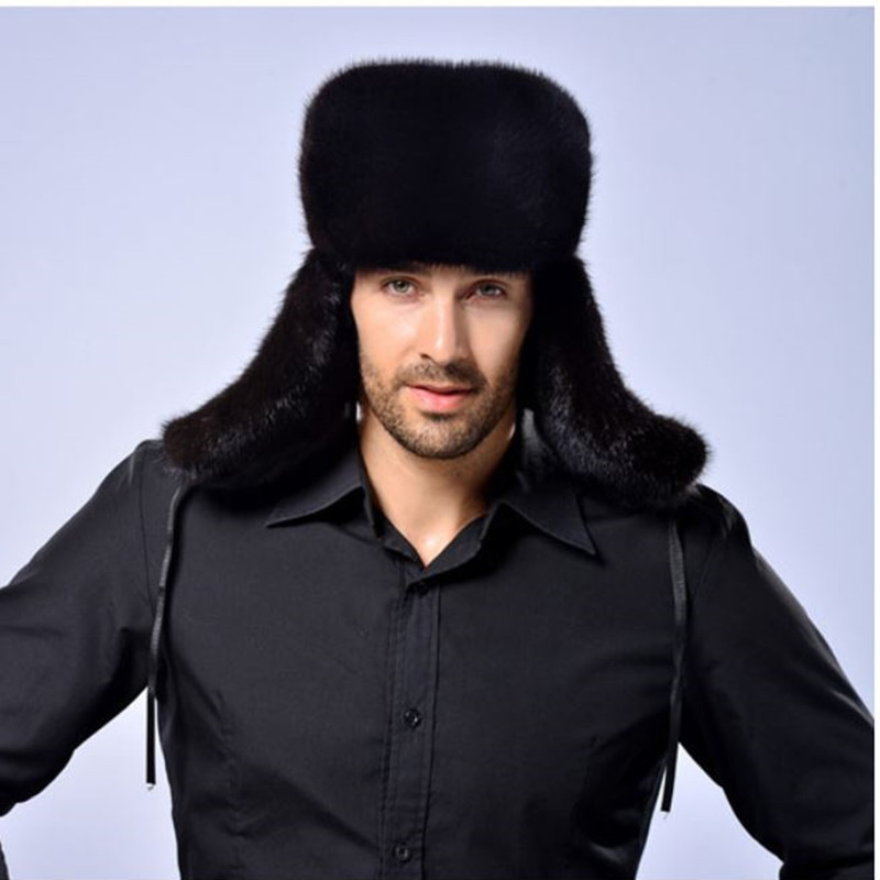 Hat Whole-Mink-Hat Winter New Men Fur Men's Feng Lei Keep-Warm To
