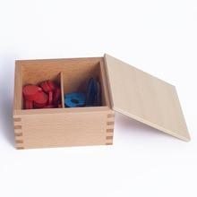 Baru Mainan Bayi Kayu Montessori Counter dan Angka Bayi Pendidikan Mainan Bayi Hadiah