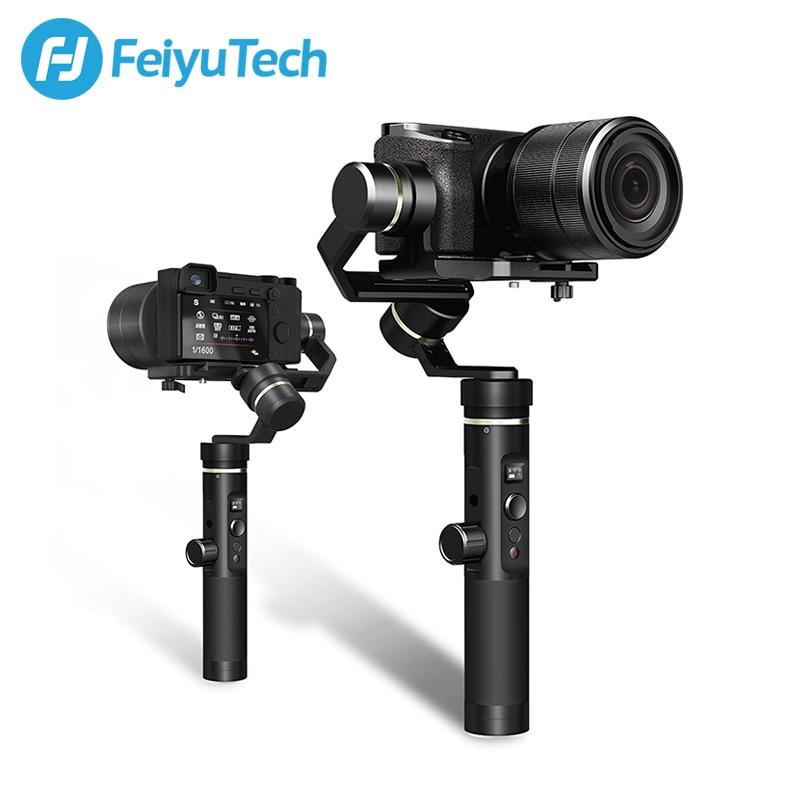 FeiyuTech G6 Plus 3-Axis Handheld Gimbal Stabilizzatore per Fotocamera Mirrorless Macchina Fotografica di Tasca GoPro Smartphone Carico Utile 800g FY g6P