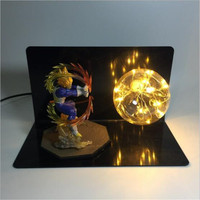 Horizontal 3D Dragon Ball Figure Son Goku Table Lamp Anime Fans Creative Collection Night Light Bedroom Decor Table Luminaire