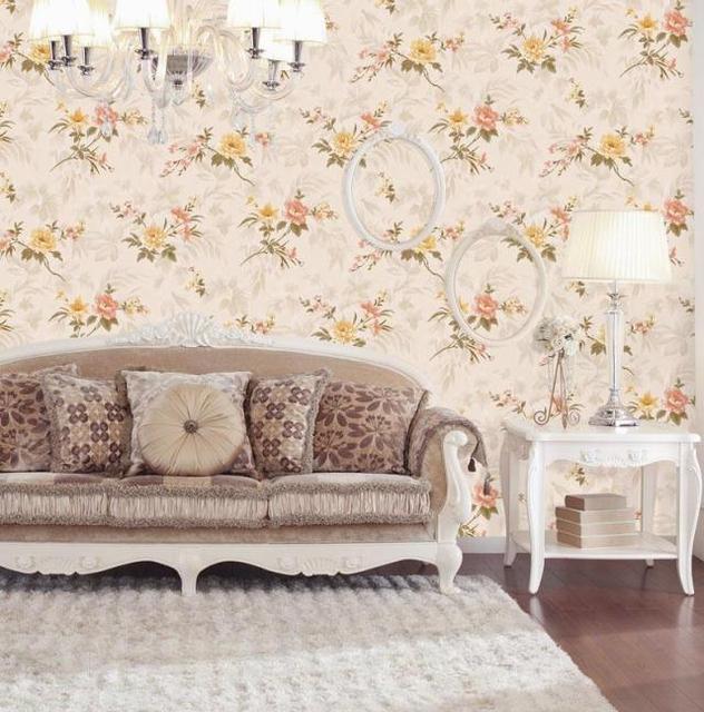 Modern D Flower Living Room Background Wallpaper Little Girl Pink - Girls flower bedroom wallpaper