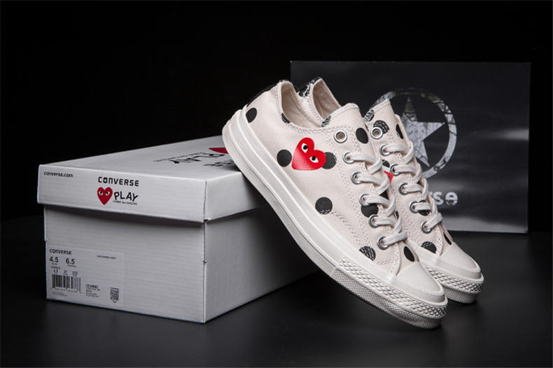 2018CONVERSE ALL STAR CDG PLAY x Converse 1970s Unisex 2018 Unisex Shoes High/Low women/men Canvas Skateboarding Shoes converse all star cdg play x converse 1970s unisex high low women men canvas skateboarding shoes