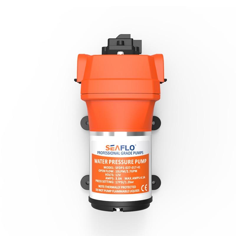 Seaflo Mini Electric Diaphragm pump  Self-Priming pump 17PSI 10 L/MIN Car wash Long life Caravan Rv Sprayer 10 l min electric brush dc diaphragm mini compressor 12v