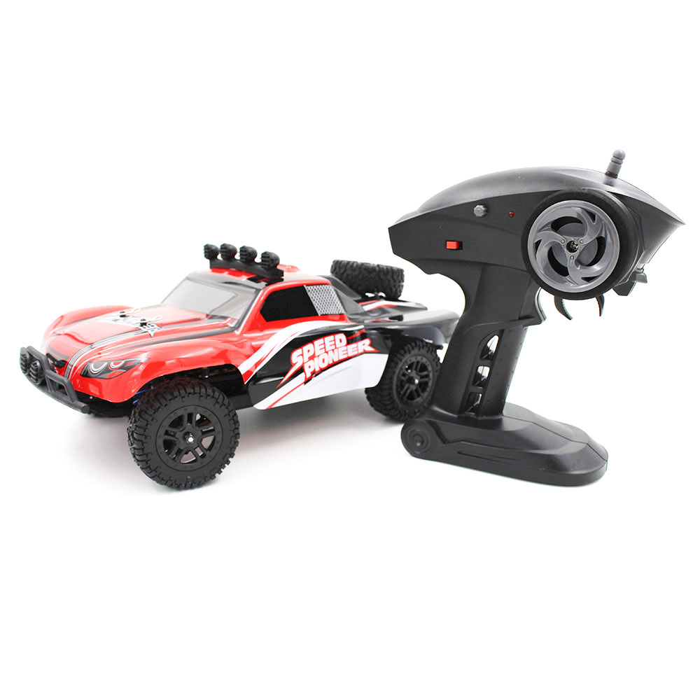 ФОТО 1:18 2.4Ghz Radio Remote Rechargeable Off-Road RC Car Light Vehicle Truck 9301-1