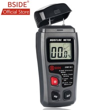 BSIDE EMT01 Two Pins Digital Wood Moisture Meter 0-99.9% Wood Humidity Tester Timber Damp Detector with Large LCD Display стоимость