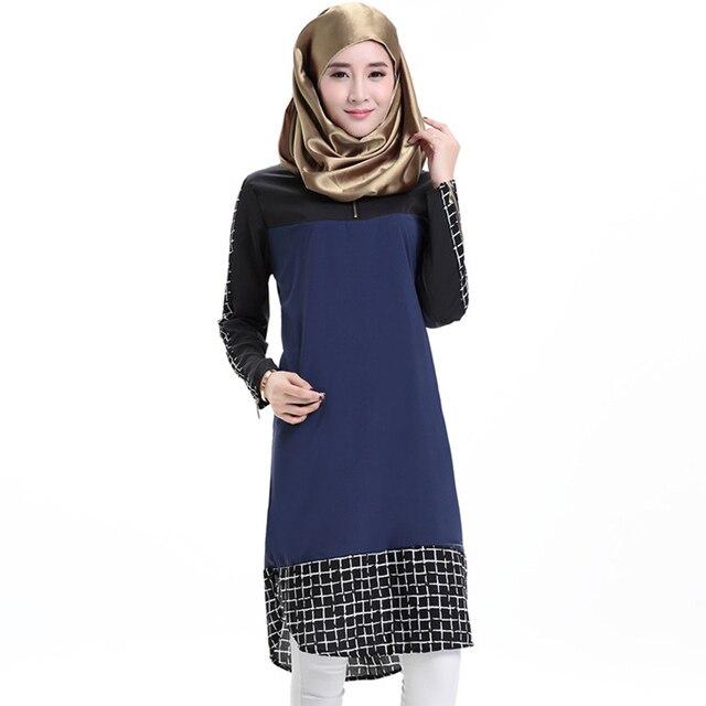 С длинными рукавами Плед Лоскутное Саудовская платье мусульманских женщин платье фотографии пакистана платье исламская одежда дубай абая в дубае 2016