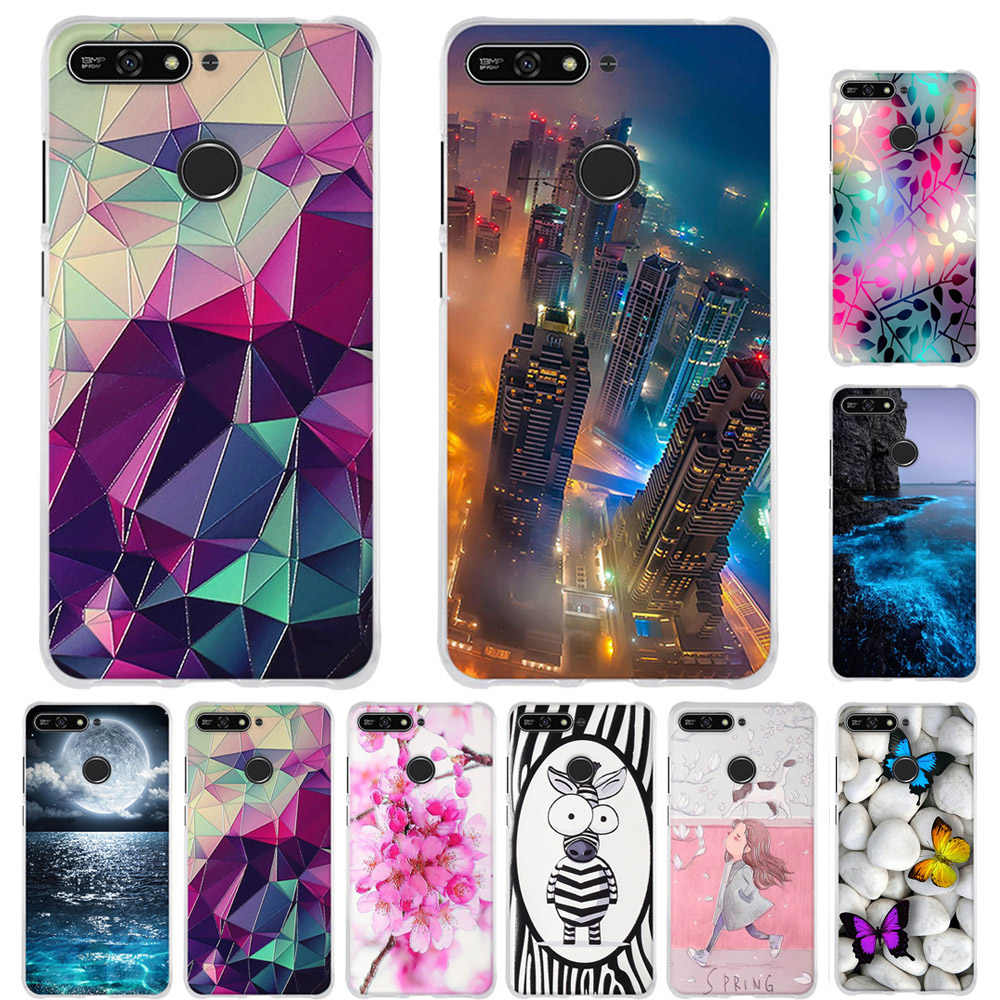 For Case on honor 7a Cover TPU Coque 5.7 inch For Huawei Honor 7A / Honor 7A Pro / Y6 2018 / Y6 Prime 2018 / Enjoy 8e Case Cover