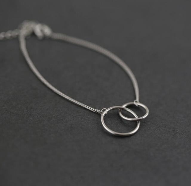 Double Circle Chain Bracelets