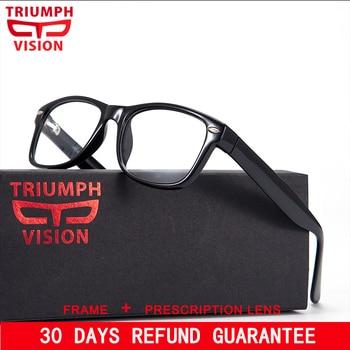 انتصار الرؤية العلامة التجارية مصمم الإطار برشام النظارات الطبية الرجال اللونية النظارات لمكافحة بلو راي الكمبيوتر نظارات قصر النظر