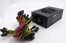 Para 1600 W ETH ZEC Minero potencia silenciosa versión soporte 12 * tarjeta gráfica