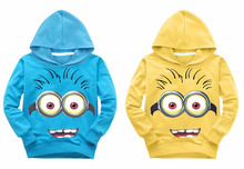 2016 New Hot Despicable Me kids Hoodies kids boys girls spring autumn thin sweater Long Sleeve Outwear baby clothes